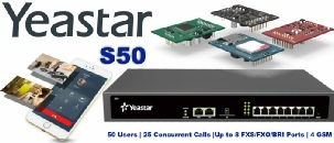 Yeastar S50 IP PBX   50 Users & 25 Concurrent Call- Modular